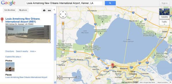 Carte de l'aéroport